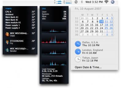 iStat menu screenshot
