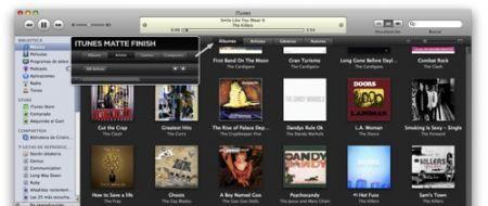 iTunes 8 nero opaco
