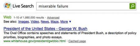 miserable failure microsoft