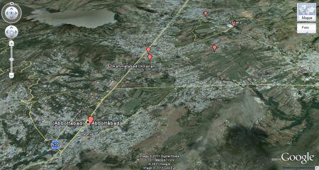 osama bin laden google maps