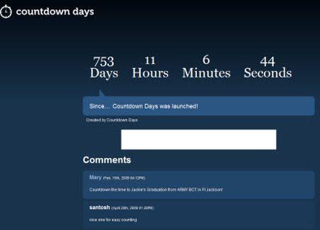 pagine web sito countdown