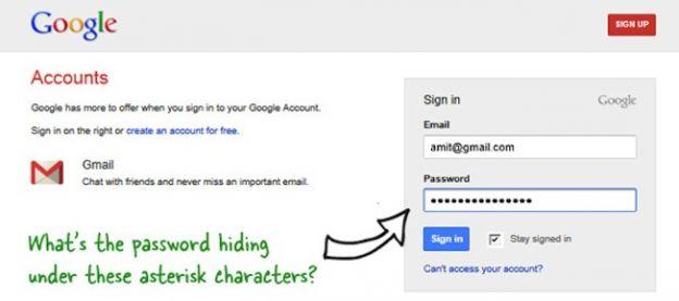 password nascosta asterischi