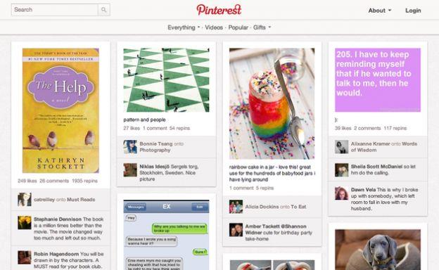 pinterest piattaforma social 2012