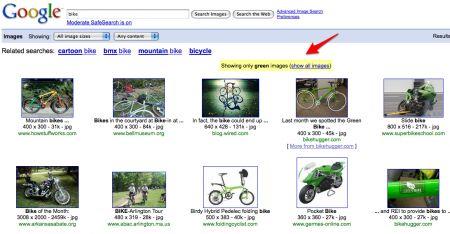 cercare colori su google image search