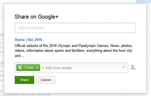 ricerca google pulsante condividi