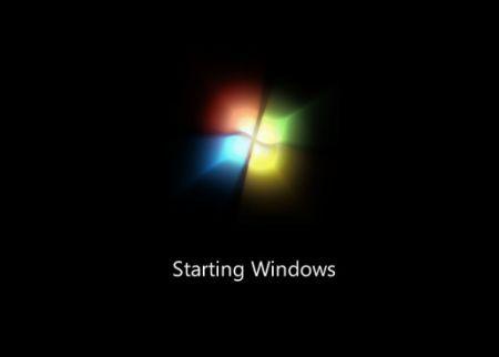 schermata avvio windows 7