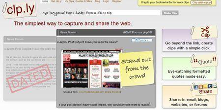 screenshot sito web