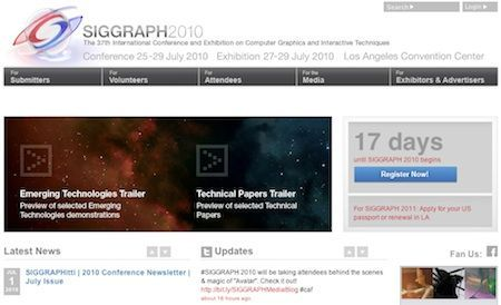 Al via l'edizione 2010 del Siggraph