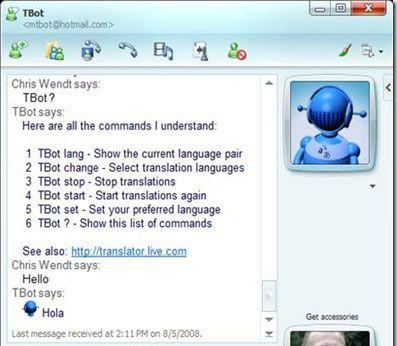 Tbot traduzione messanger