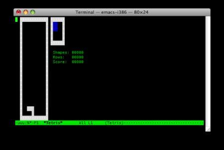 tetris su terminale
