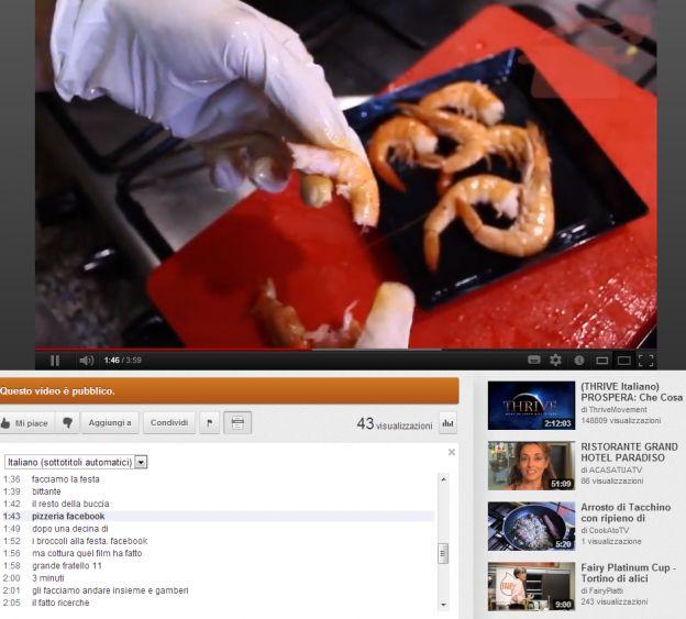 trascrizione automatica youtube
