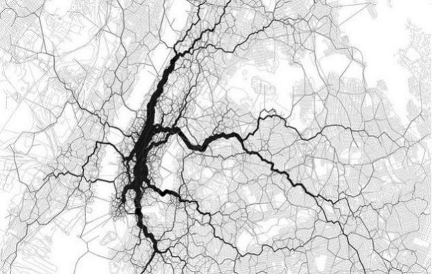 twitter social network mappa digitale new york