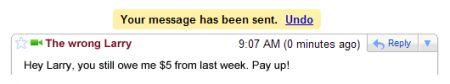 undo send gmail