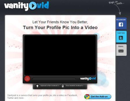 vanityvid applicazione web