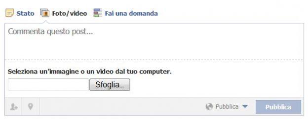 video facebook caricare