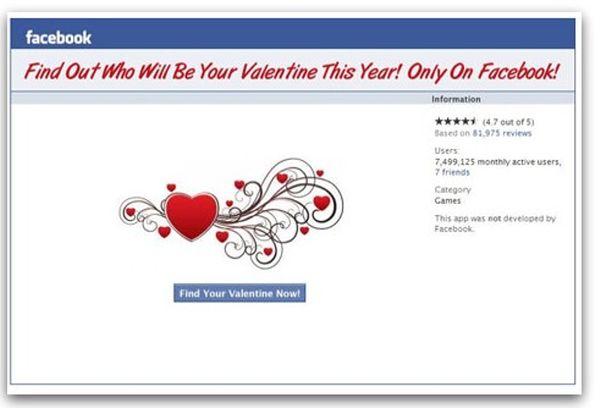 virus facebook san valentino