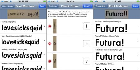 WhatTheFont, app per iPhone