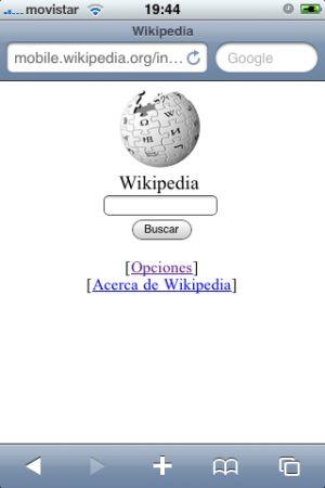 Wikipedia iPhone
