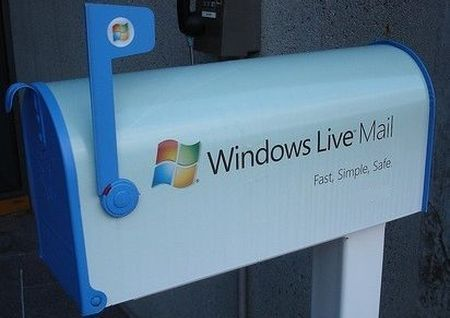 windows live mail colore account