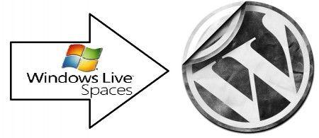 windows live space to wordpress