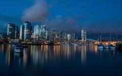 Vancouver nel crepuscolo