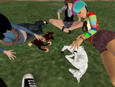 Donna umana + unicorno adulto = cucciolo di unicorno. In Second Life.