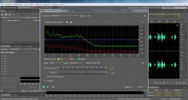 Adobe Audition riduzionerumore