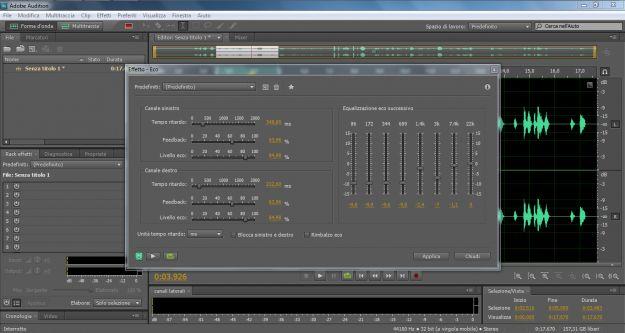 Adobe Audition ritardo eco