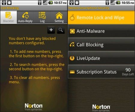 Android Norton Smartphone Security