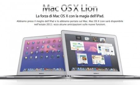 Mac OS X Lion: Apple mostra le anteprime sulle feature