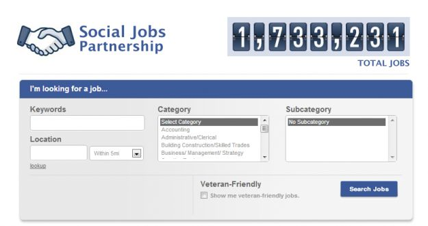 Cercare lavoro sui social network: da oggi c&#8217; Facebook Social Jobs