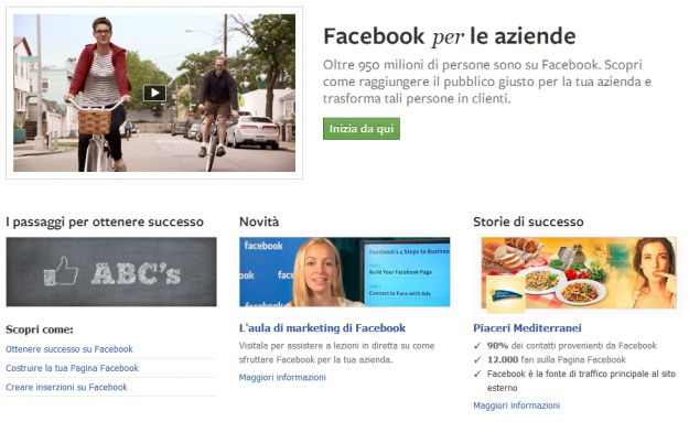 Facebook Business rinnova la home per le aziende