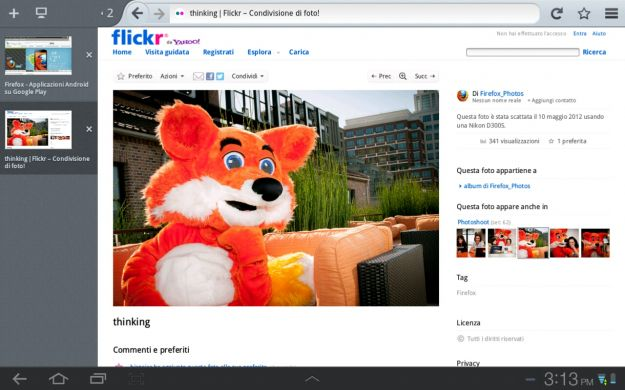 Firefox 15 tablet screenshot