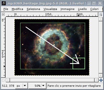 GIMP guida ritaglio1