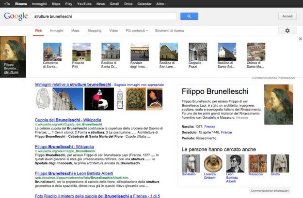 Google Knowledge Graph arriva anche in Italia