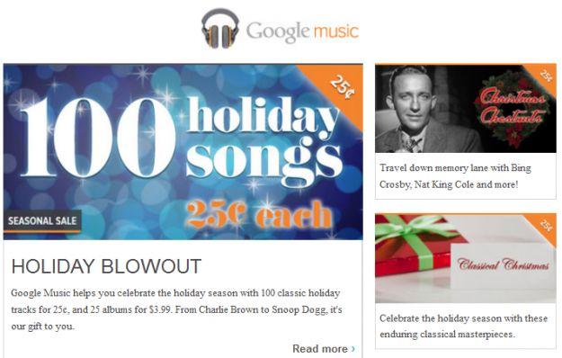 Google music natale