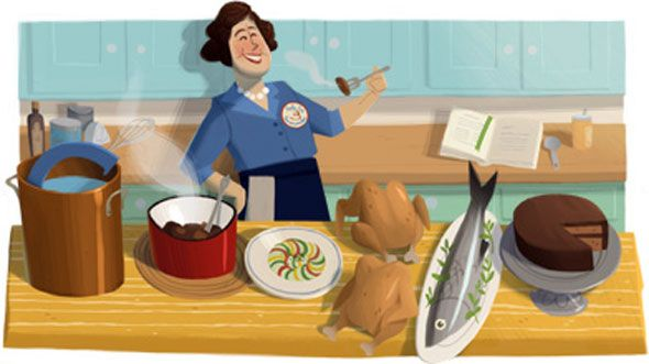 Julia Child–Google Doodle