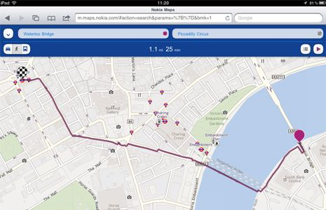 Nokia Maps su iOS e Android con guida vocale