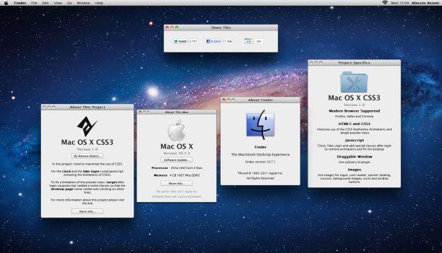 La potenza delle Web App: OSX Lion via browser in CSS3