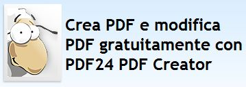 Download Pdf per creare gratis i vostri pdf