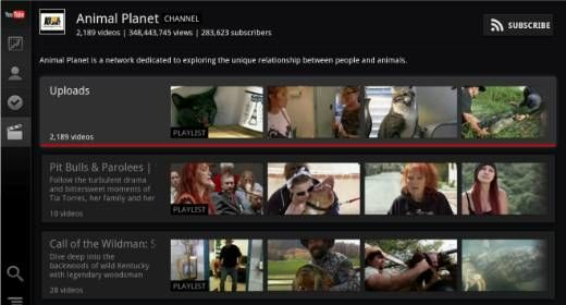 L'app Android Youtube si rifà il look per la Google TV