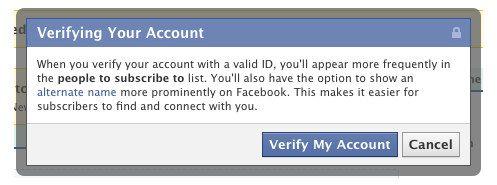 Facebook, account verificati in stile Twitter per i