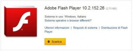 Adobe Flash Player: disponibile l'aggiornamento alla versione 10.2