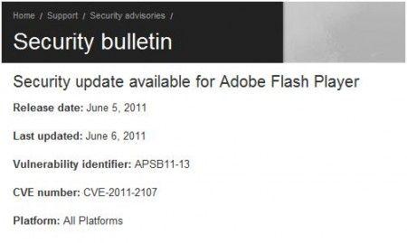aggiornamento adobe flash player