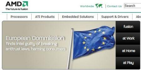 amd sfoggia la bandiera europea
