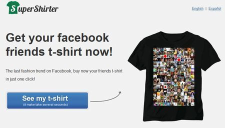 amici facebook maglietta SuperShirter