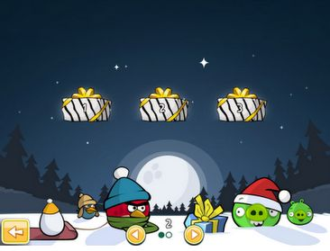 Il Natale di Angry Birds disponibile anche su Google Chrome