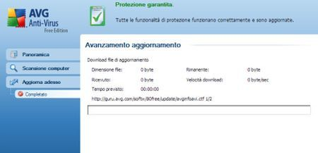 antivirus gratis avg aggiornamento