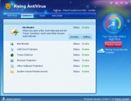 Antivirus: Scaricare Rising Antivirus 2010 Free Edition