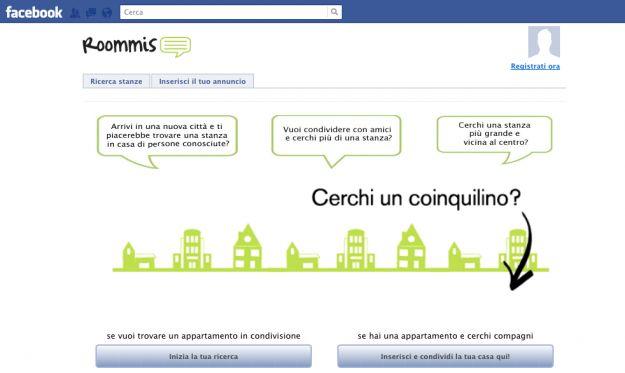 Applicazioni Facebook: Roommis per trovare casa e coinquilini